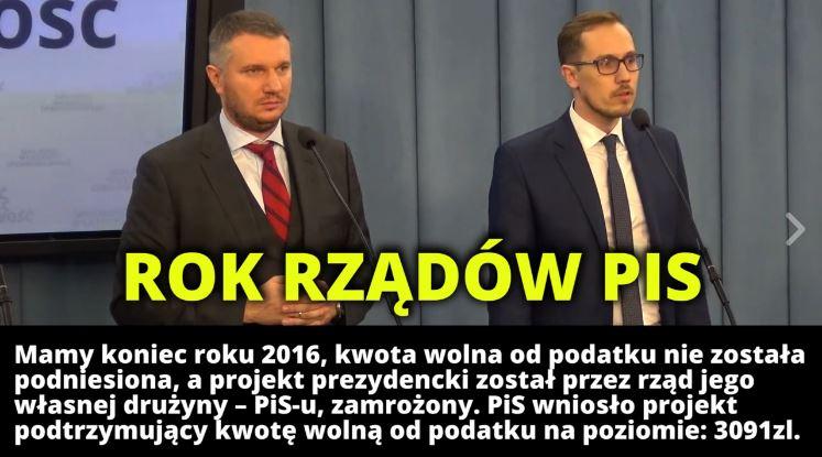 [VIDEO] Konrad Berkowicz ocenia pierwszy rok rządów PiS